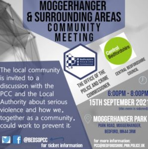Moggerhanger, Sandy and the surrounding areas Community Meeting - Poster