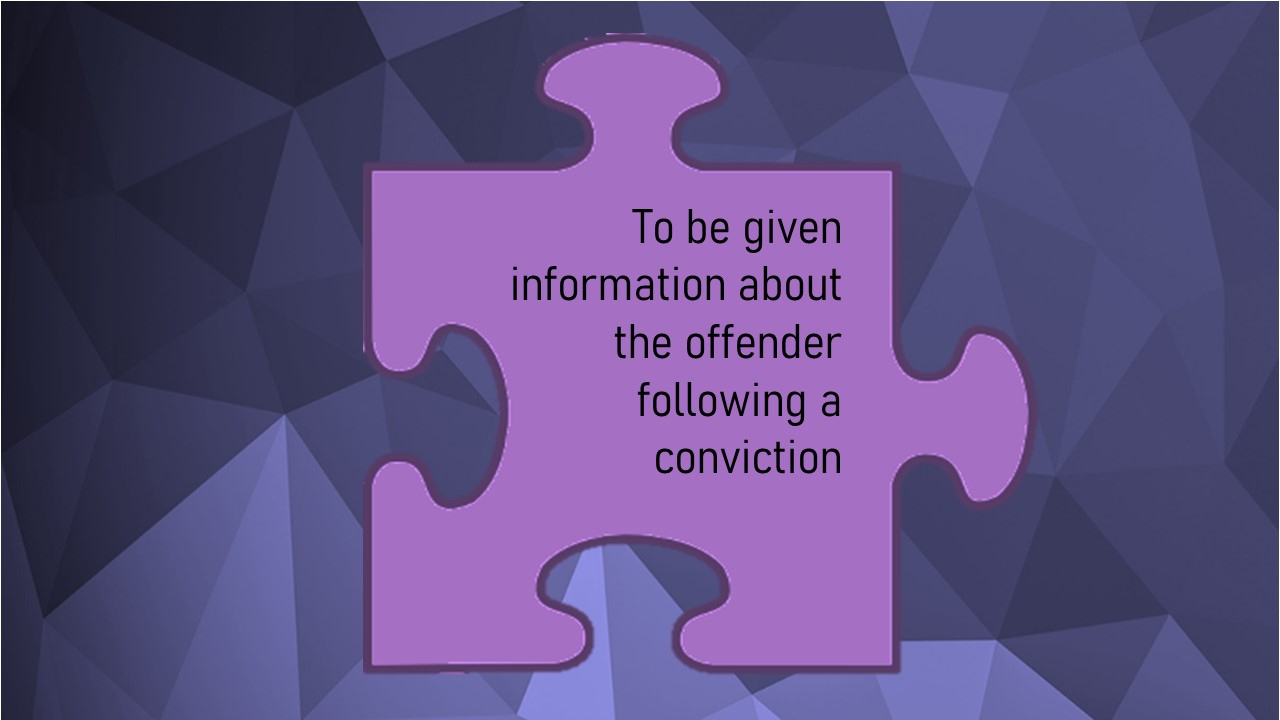 The Code of Practice for Victims (Victims' Code) Individual rights information – right 11 of 12