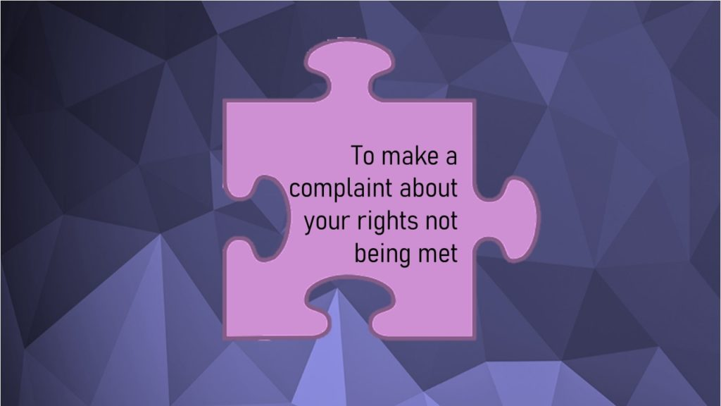 VCOP Image for article to make a complaint about your rights not being met
