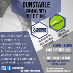Dunstable Community Meeting - Poster