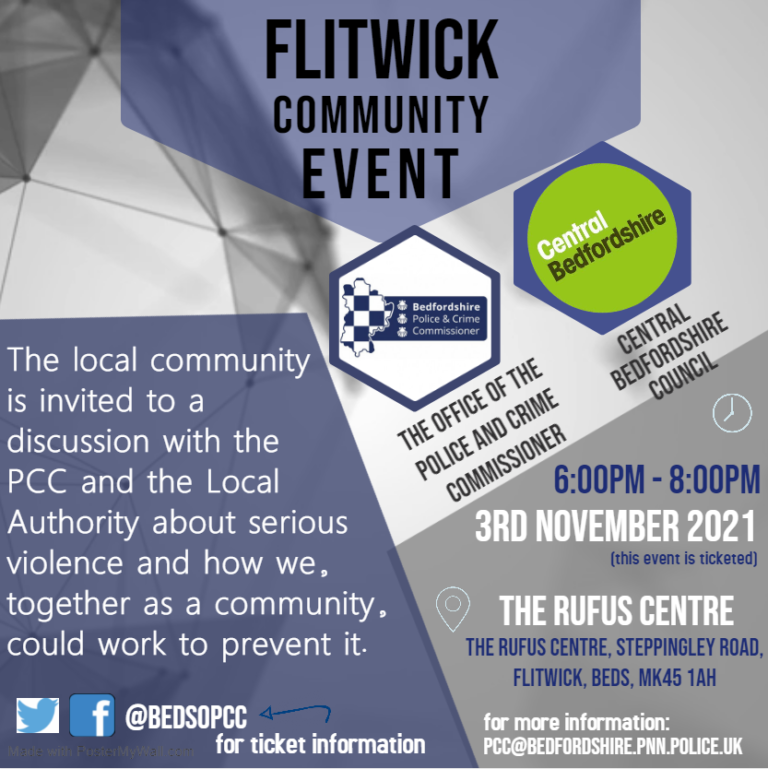 Flitwick Community Meeting - Poster