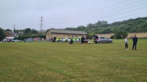 Police at Safer Streets event